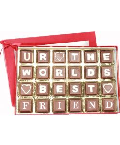 Friendship Day Special Chic Red Box with 24 Milk Chocolates