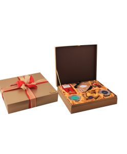 The Festive Hamper Box Large of chocolates, cookies and dry fruits