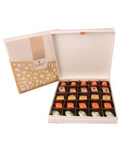 Classy Leather feel , elegant  box with 25 assorted chocolates