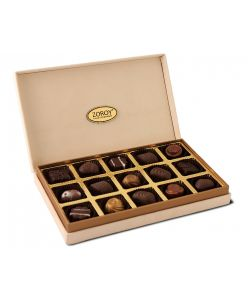 Classic Suede Box with assorted chocolate pralines