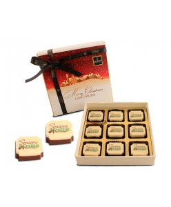 Box of Christmas greeting- 9 chocolates