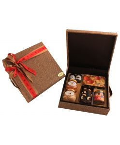 Christmas Eco friendly Jute Hamper Box