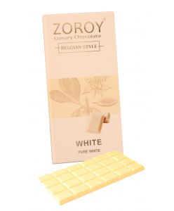 Pure Belgian Couverture White Chocolate bar - 100gms