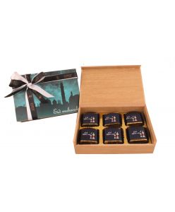 EId Wooden Box of 6 EID MUBARAK chocolates