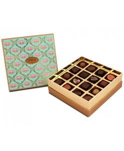 Lotus Themed Ethnic gift Box with 16 assorted chocolates