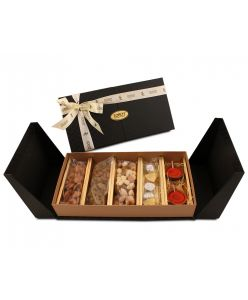 The Festive hamper combo box of chocolates and 2 wax diyas
