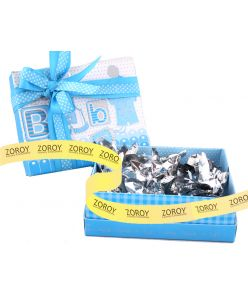 Blue BABY printed box with 10 chocolates