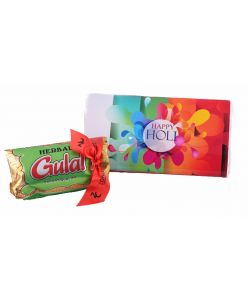 Happy Holi Mini pack- Happy Holi Milk chocolate bar Herbal gulaal color