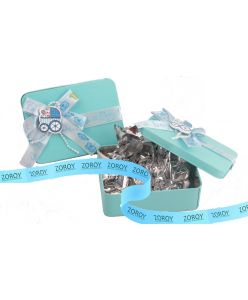 Blue Tin box with 6 assorted chocolates