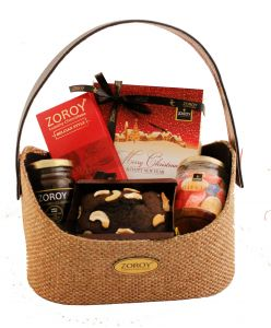 ZOROY Christmas Finesse hamper of chocolates, plum cake, jelly and honey