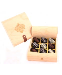 Ramadan Mini Wood box of Chocolate Dates