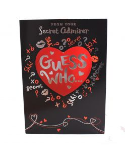 Secret admirer Guess who? Greeting card