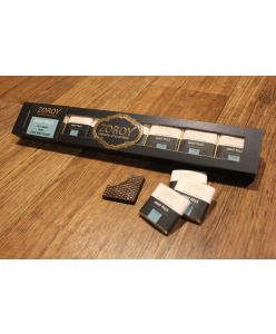 ZOROY Thins Collection 8 Belgian 74% Dark with Mint centred filling Chocolates - 64 Gms