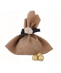 Sugarless jute Bag 12 chooclates