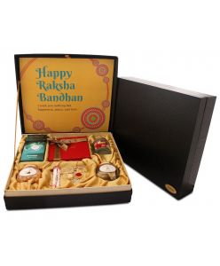 ZOROY The Rakhi Hamper Box Large of chocolates, jelly cubes and dry fruits