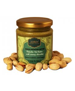 ZOROY Luxury Chocolate Natural Choco Pistachio Butter Spread - 200gms (natural Stone crushed,No Preservatives)