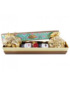 ZOROY Long Lotus hamper of chocolates, dry fruits and  assorted goodies