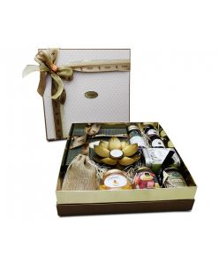 ZOROY Peach Loaded Boxed Hamper of chocolates, dry fruits, cookies, nut butters and all things nice