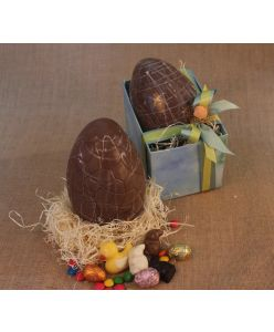 ZOROY Chocolate Easter box of 1 Extral Large Egg
