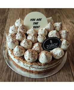 ZOROY Eggless Coffee caramel cake - Half Kg - Delivery In Bengaluru Only
