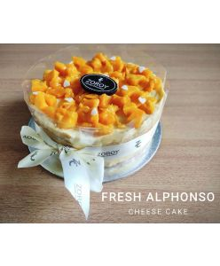 ZOROY Eggless Fresh Alphonso cheesecake - Half Kg - Delivery In Bengaluru Only