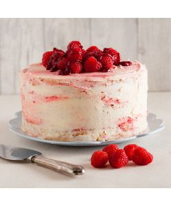 ZOROY Eggless Raspberry Mousse cake - Half Kg - Delivery In Bengaluru Only