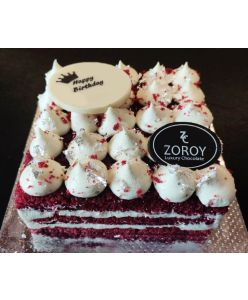 ZOROY Eggless Red Velvet Cheesecake - Half Kg - Delivery In Bengaluru Only