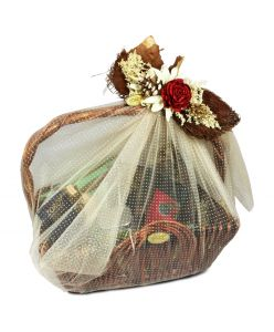 ZOROY Esteem Cane Basket Hamper (Large)