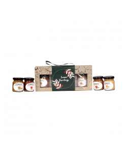 ZOROY Gourmet Jar set with 4 Nut Butters Gift Pack of Pure Almond, Cocoa almond, Pista, Hazelnut - 235gms