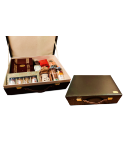ZOROY Leather Feel Hamper Luxury Briefcase  of chocolates and goodies