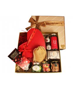ZOROY Luxury Chocolate Valentine Love Peach Loaded Hamper