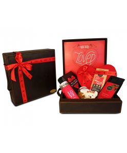 ZOROY Luxury Chocolate You are Loved Leather hamper