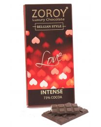 Pure Belgian  Couverture Dark Chocolate bar with Love Hearts Theme - 100gms