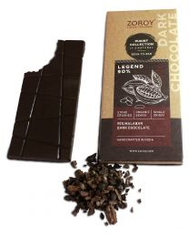 ZOROY Bean to Bar Purist Collection, Legend 90% Organic Dark Chocolate bar, Pack of 2, 58gms Each - 116Gms