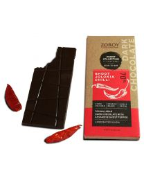 ZOROY Bean to Bar Purist Collection, Legend 70% Organic Dark Chocolate with Bhoot Jhalokia Chilli bar, Pack of 2, 58gms Each - 116Gms