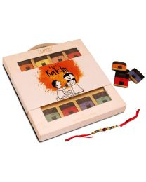 Rakhi Gift Thins collection 16 belgian Chocolates with rakhi