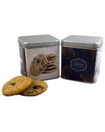 Hand Crafted Vanilla Cookies Set of 2 reusable and airtight tin 100gms each - 200gms