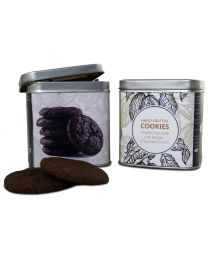 Hand Crafted Chocolate Cookies set of 2 reusable and airtight tin 100gms each  - 200gms