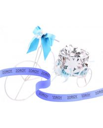 Cycle favor in blue 12 chocolates