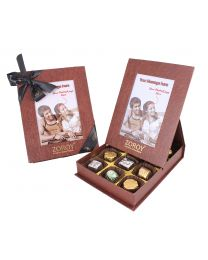 Personalised Photo Box with 12 Assorted Pralines