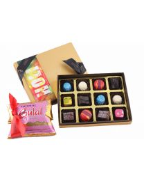 Festive Mini Box of 12 chocolates and Herbal gulal color