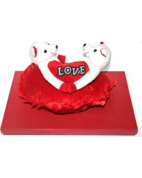 Box with 40 Chocolates and Teddy Bear with  Heart stuff toy