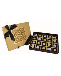 Luxury Gold box with Laser Cut design  20 assorted Chocolates