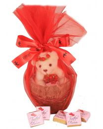 Together Forever Dark Chocolates Teddy in a Basket